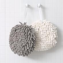 日本擦手巾挂款加厚吸gr7雪尼尔擦en家用卫生间厨房搽手毛巾