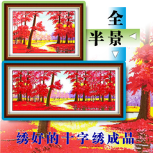鸿运当gr电脑机绣红en林绣好的风景客厅欧式装饰画