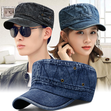 帽子男时尚韩版水洗牛仔布