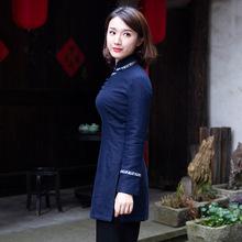 唐装女gr装 加厚中gc式(小)棉袄年轻式茶服民国风复古女装