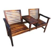 碳化防gr实木休闲桌ll户外阳台茶几椅庭院露台复古休闲组合椅
