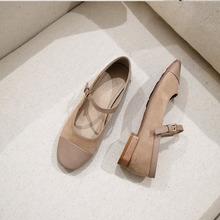 豆豆鞋gs020春季ge底春式女鞋奶奶鞋单鞋女平底浅口玛丽珍鞋子