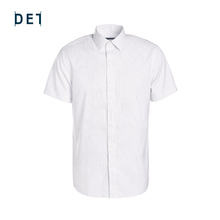 十如仕gt疆长绒棉新pw抗菌防皱短袖格纹衬衫纯棉男士衬衣夏季