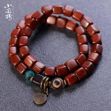 赞比亚gu叶紫檀原创a8工血檀手串日韩复古女式饰品民族风手链