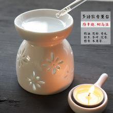 香薰灯gu油灯浪漫卧de家用陶瓷熏精油香粉沉香檀香香薰炉