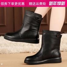 秋冬季gu鞋平跟女靴de绒棉靴女棉鞋平底靴马丁靴英伦风短靴