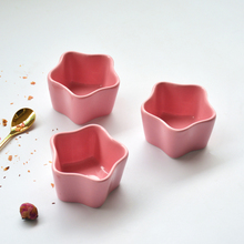 陶瓷星gu蛋糕模具烘ie厨房餐具烤箱专用布丁碗碟舒芙蕾碗