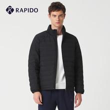 RAPguDO 冬季pl本式轻薄立挺休闲运动短式潮流时尚羽绒服