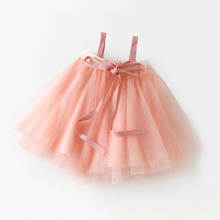 MARgu出口日本2zy秋冬宝宝抹胸纱裙女童公主tutu裙婴儿背带半身裙