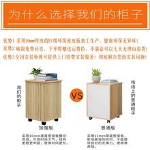 办公室gu质文件柜带ou储物柜移动矮柜桌下三抽屉(小)柜子活动柜