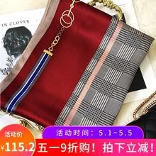 古典英gu的酒红色调es桑蚕丝丝巾女100%披肩通勤气质