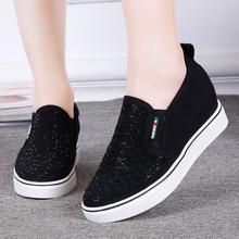 新式老gw京布鞋 时io乐福鞋 户外运动 内增高女单鞋