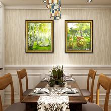 餐厅动物(小)鹿原创油画纯手绘欧款gw12款客厅co手工装饰挂画