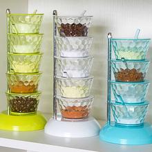百露调gx罐子可旋转yb装厨房收纳盒置物架用品家用大全