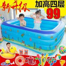 婴儿宝gy游泳池家用hu的超大号加厚家庭大型充气水池可折叠