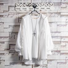 白糖玫gy/20 白mm薄式外套男夏季青少年帅气超仙透气防晒衣服
