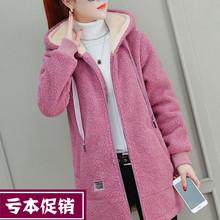 仿羊羔gy卫衣女装2mm新式潮秋冬季加绒加厚上衣服百搭摇粒绒外套