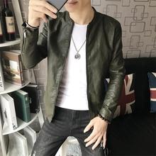 201gy新式皮衣男kj年外套薄式秋季修身韩款皮夹克帅气男装夹克