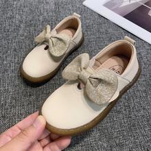 公主鞋gz皮2020nj黑色(小)皮鞋宝宝软底宝宝鞋韩款单鞋