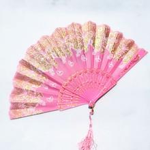 扇子古gz折扇蕾丝扇lm国风女广场舞扇子古风宝宝折叠扇夏季扇