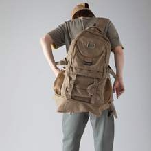大容量gz肩包旅行包fq男士帆布背包女士轻便户外旅游运动包