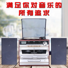 磁带Cgz一体机黑胶dp录音机播放器复古留声机老式刻录机内置