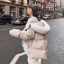 哈倩2020新款棉衣中长款秋h611装女士6w宽松羽绒棉服外套棉袄