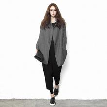 原创设h6师品牌女装6w长式宽松显瘦大码2020春秋个性风衣上衣