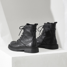 内增高h6丁靴夏季薄6w风2021年新式女百搭真皮(小)短靴春秋单靴