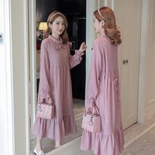 孕妇装ha装哺乳连衣ke时尚式2021新式中长式宽松喂奶期长裙子