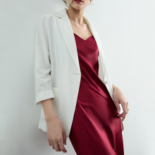 稀有概ha 夏季专属th薄式(小)西装外套女宽松防晒衣气质休闲西服