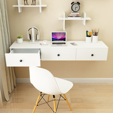 墙上电ha桌挂式桌儿ra桌家用书桌现代简约学习桌简组合壁挂桌