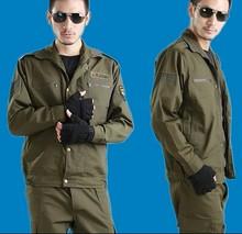 军绿帆ha迷彩工作服ra棉套装秋冬式男女作训服长袖劳保服