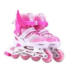 (小)朋友ha生10岁防ra光宝宝粉红女孩溜冰鞋夏季透气旱冰