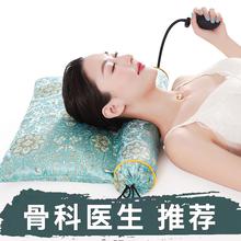 荞麦决ha子颈椎枕头ao用非修复护颈椎助睡眠圆柱加热矫正器硬