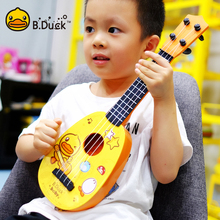 (小)黄鸭ha克里里初学ng仿真(小)吉他玩具可弹奏乐器1-8岁男女孩