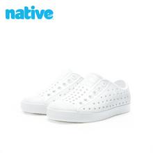 Native夏季男童女童Jeffha13rsona透气EVA凉鞋洞洞鞋宝宝软