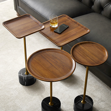 轻奢实ha(小)边几高窄io发边桌迷你茶几创意床头柜移动床边桌子