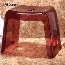 日本Sha SAUCou凳子防滑凳洗衣服凳洗澡凳矮凳塑料(小)板凳