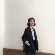 (小)个子西装ha套韩款宽松py020新款女英伦休闲百搭正装黑色西服