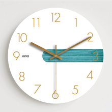 现代简ha清新前卫钟bo挂钟创意北欧静音个性卧室大号石英时钟