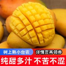 新鲜水ha 树上熟(小)et疯抢5斤带箱海南台农 新鲜当季(小)台农
