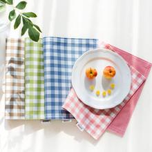 北欧学生布艺摆ha西防烫餐桌lo餐具垫儿童餐布(小)方巾