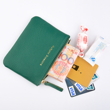 男女式ha皮零钱包头lo拉链卡包钥匙包简约迷你多彩硬币包