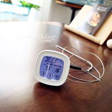 家用食ha烤箱温度计lo房水温油温报警电子食物液体测温仪探针