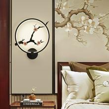 新中国ha床头壁灯圆ry壁灯玄关走廊壁灯楼梯工程壁灯