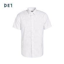 十如仕ha疆长绒棉新ay抗菌防皱短袖格纹衬衫纯棉男士衬衣夏季