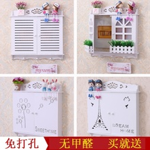 挂件对ha门装饰盒遮ht简约电表箱装饰电表箱木质假窗户白色。