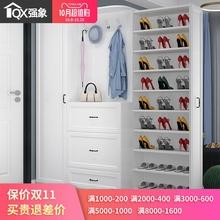 现代简ha鞋柜家用大si体定制简约进门门口衣帽柜门厅柜