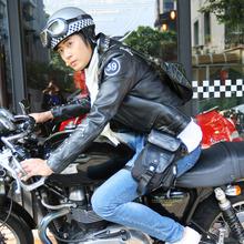 JR骑ha机车摩托车si能战术腰包单肩包男女防水大(小)式
